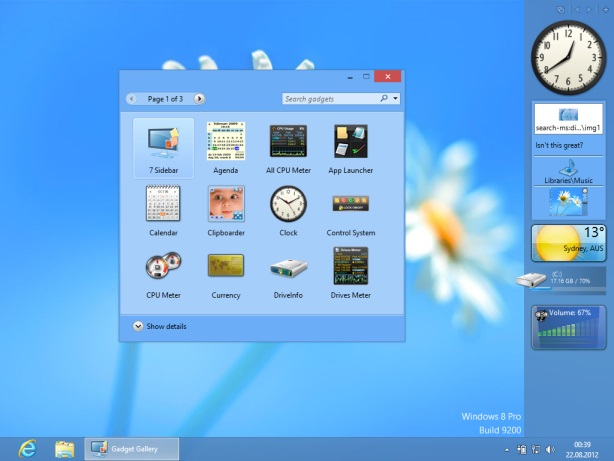 How to Get Windows 7 Gadgets in Windows 8