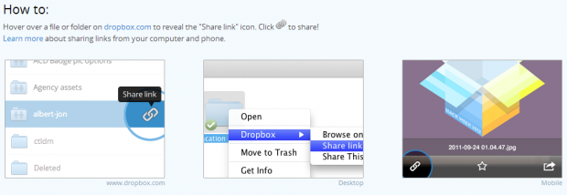 Dropbox Releases Dropbox Links To Share Files and Folders