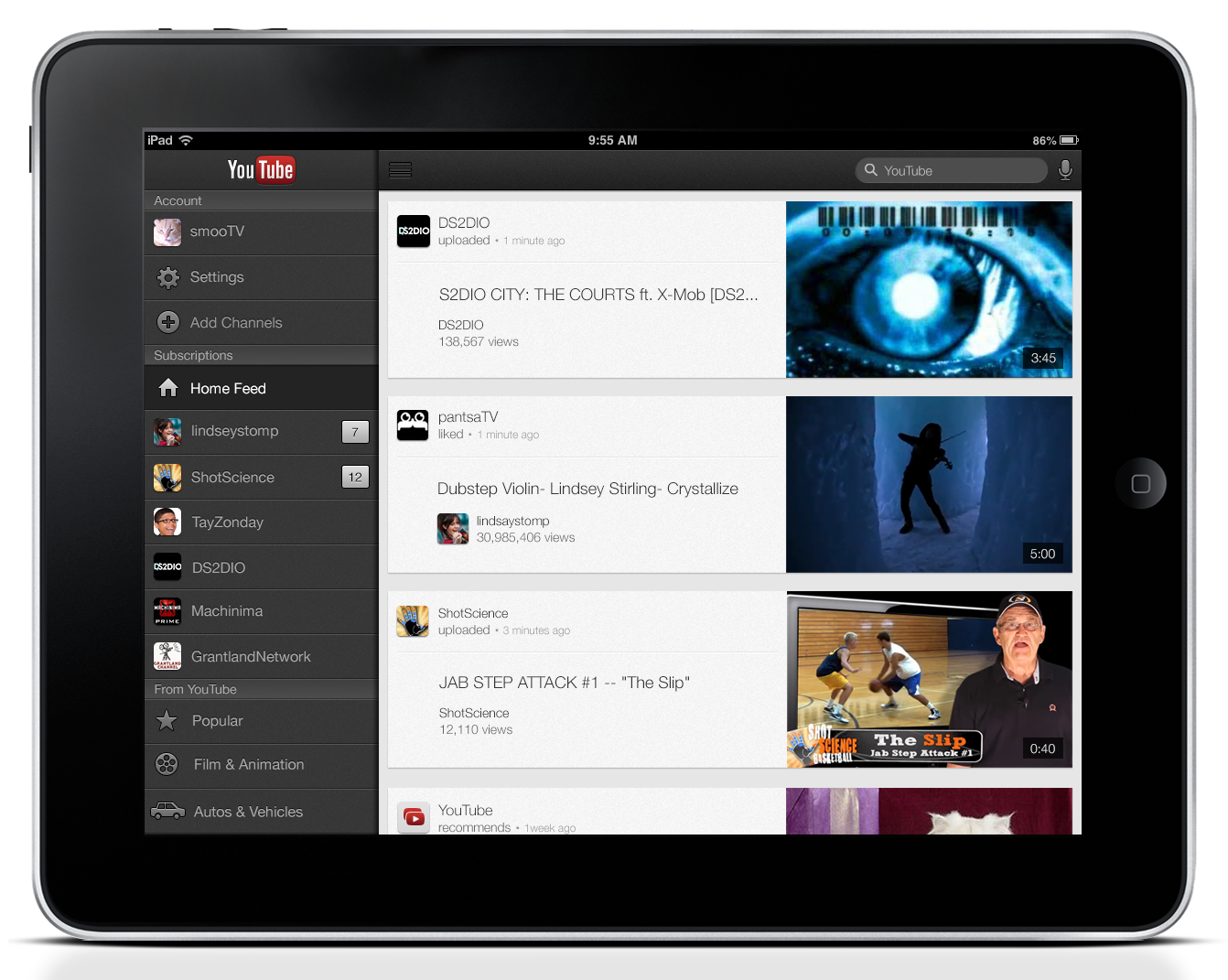 YouTube Updates iOS App With iPad Support, AirPlay, and Performance